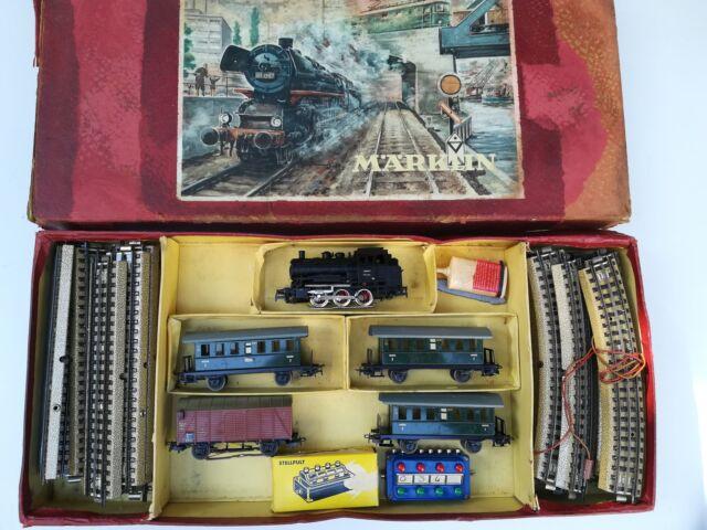 Trenino elettrico Marklin metà anni 50 completo come da