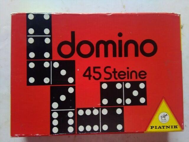Vecchio gioco del domino PIATNIK fine anni 60