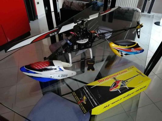 T rex 500 e flybarless