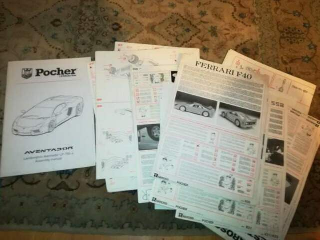 Istruzioni Montaggio Pocher 993 F40 Testarossa Lambo