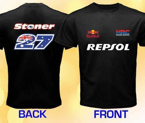 T-shirt casey stoner honda moto gp repsol s-xxxl vari colori