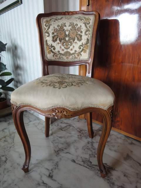 2 sedie in noce stile Luigi Filippo