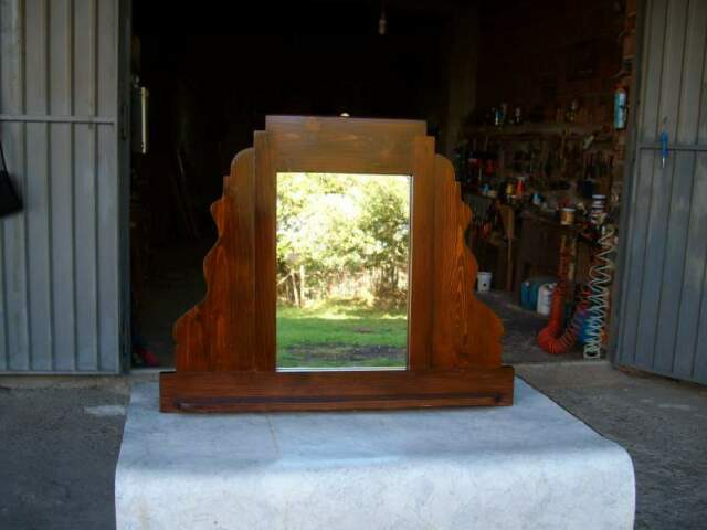 Antica specchiera in legno massello - epoca inizi '900 -