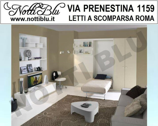 Letti a Scomparsa _ Letto Singolo VE363 Via PRENESTINA
