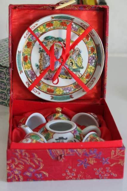 Servizio da te' grappa sake ceramica orientale