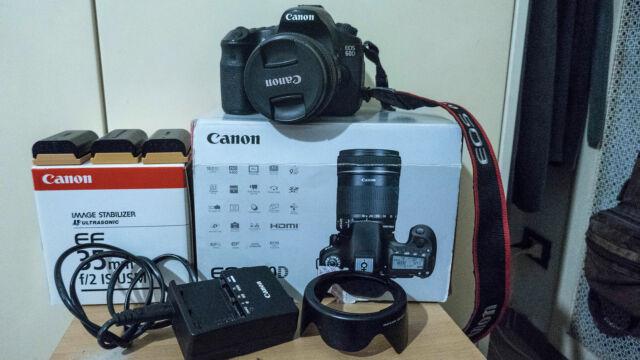 Canon eos 60d +obiettivo ef 35mm f/2 is usm