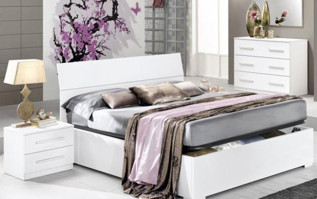 Camera da letto completa con letto contenitore