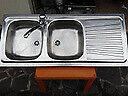 Lavello acciaio inox completo di Rubinetteria