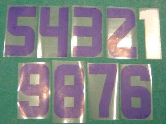 Serie numeri dal 1 al 9 per maglie calcio o altro sport