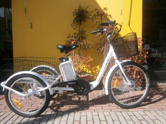 Tricicletta elettrica per andare a fare la spesa