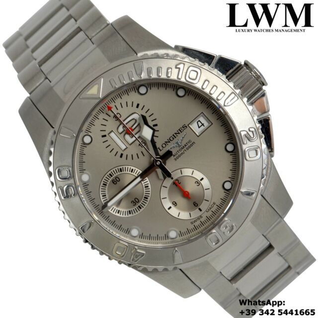 LONGINES Hydro Conquest L Chronograph silver dial