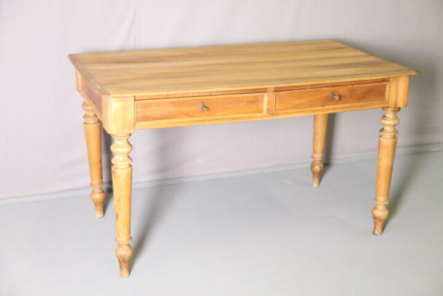 Antico scrittoio scrivania in noce massello biondo fine 800