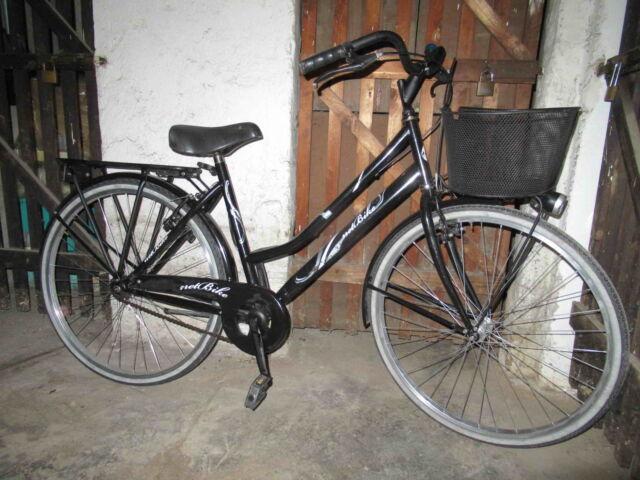 Bicicletta city bike da donna 26 con cestino