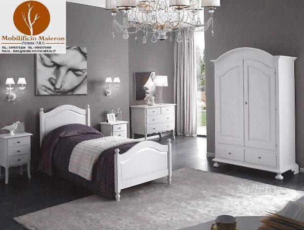 Camere da Letto in Legno Color Bianco Vintage Provenzale