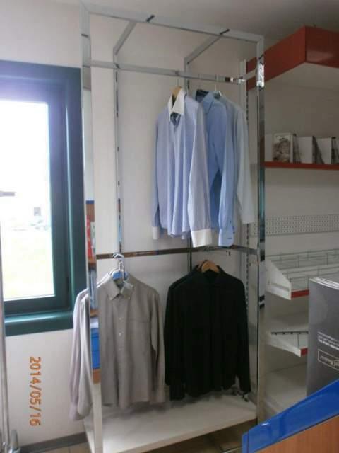 Cornice inox per abbigliamento
