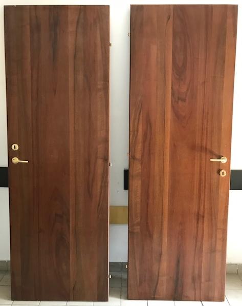 Porte interne in legno color noce