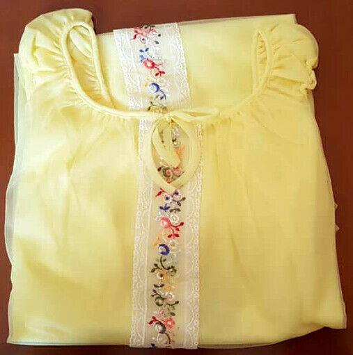 Camicia da Notte Colore Giallo