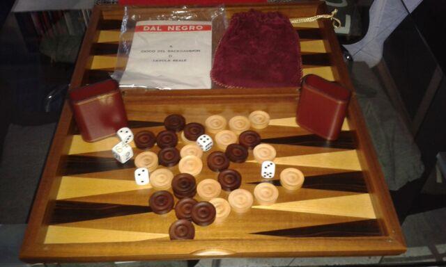 Backgammon in legno di noce Dal Negro