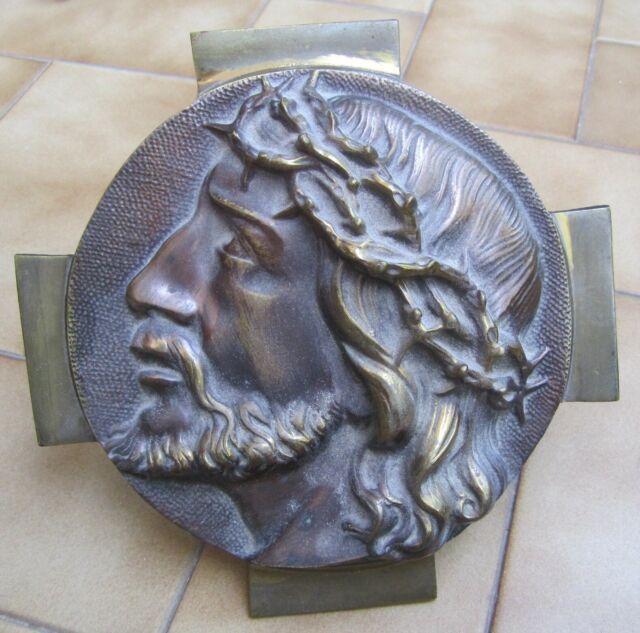 Bassorilievo in bronzo volto di Gesù