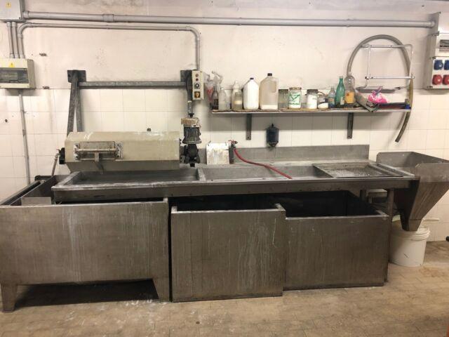 Lavello con vasche decanter in acciaio inox