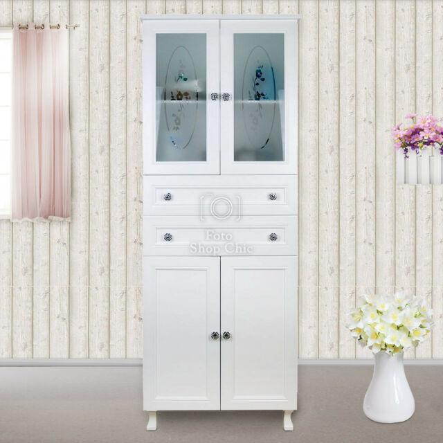 Mobile colonna da bagno bianco shabby chic 170 cm