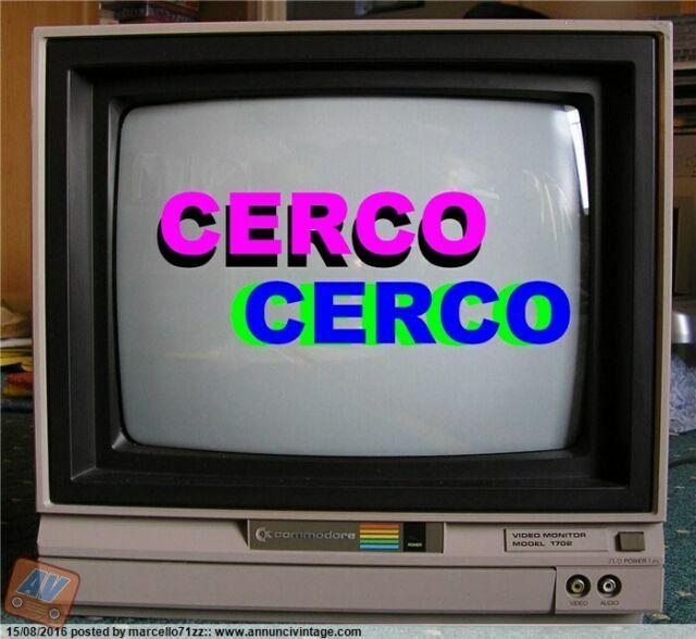 Cerco: Monitor a colori per commodore funzionante