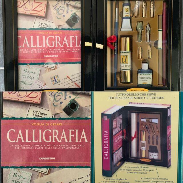 Kit per calligrafia de agostini pennini inchiostro