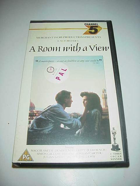 A room with a view camera con vista channel 5 vhs
