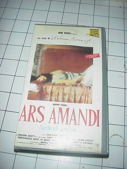 ARS AMANDI vhs videocassetta film raro originale ex nolo
