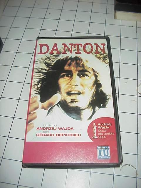 DANTON Jerdard Depardieu vhs videocassetta film raro