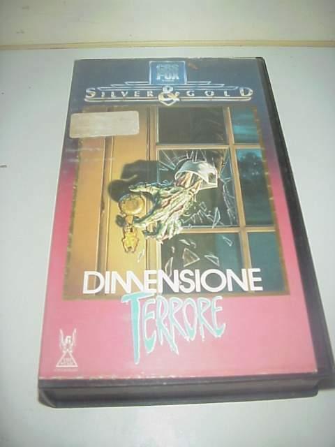 Dimensione terrore film vhs videocassetta ex noleggio video