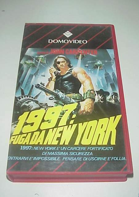 Fuga da New York film vhs videocassetta video cassetta