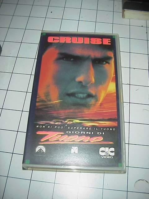 Giorni di Tuono Tom Cruyise vhs videocassetta film cinema