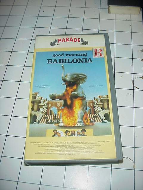 Good Morning Babilonia vhs videocassetta film raro originale
