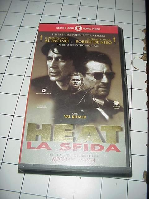 HEAT LA SFIDA vhs videocassetta film raro originale ex