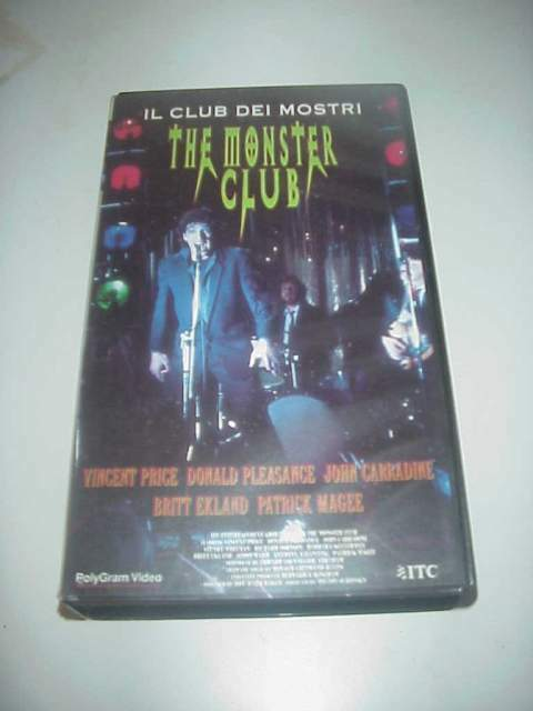 The monster club il club dei mostri film vhs videocassetta