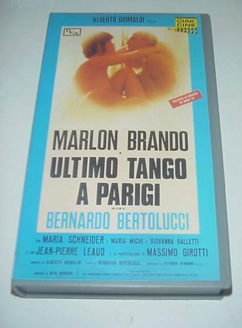 Ultimo tango a Parigi film vhs videocassetta Marlon Brando