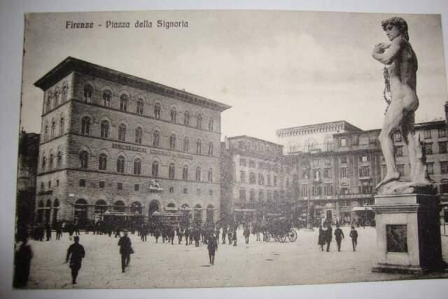 Cartolina piazza della signoria - firenze, inizio 900