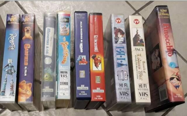 9 VHS ORIGINALI cartoni animati