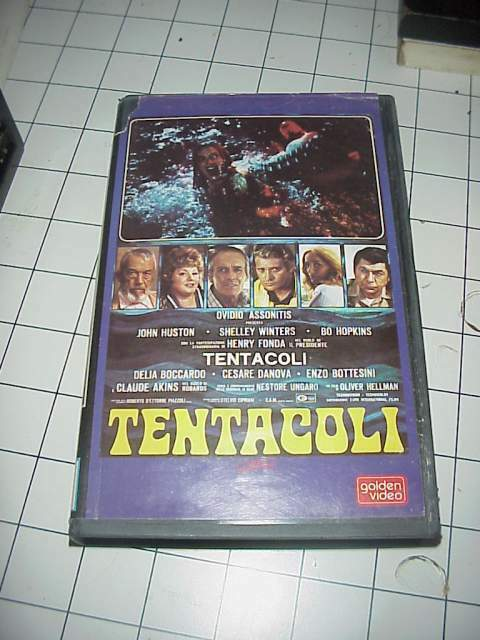 TENTACOLI vhs videocassetta film raro originale ex nolo