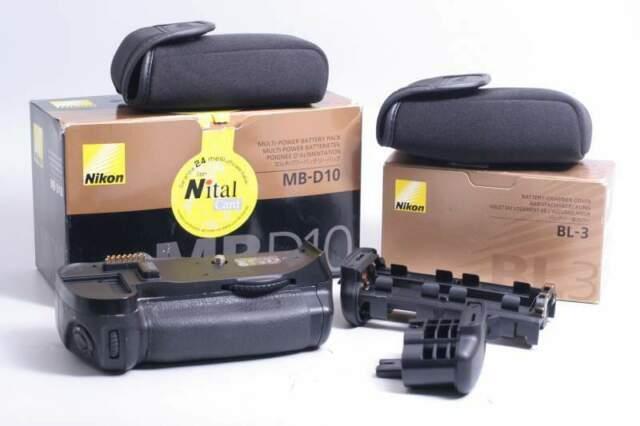 Battery grip nikon mb-d10 + bl-3 en-el4. nital. garanzia.