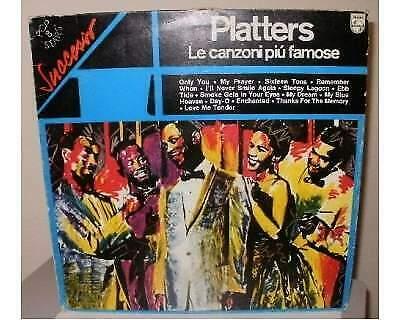 The Platters, LP 33 giri, LE CANZONI PIU' FAMOSE, Philips