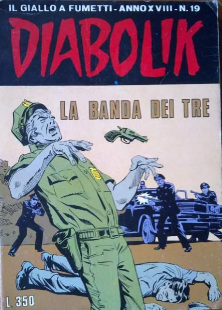 DIABOLIK La Banda dei Tre ottobre  anno XVIII n.19 lire