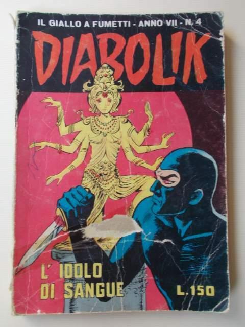 """DIABOLIK """"L'idolo di Sangue"""" 19 febbraio  n.4 anno VII"""