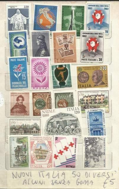 Italia francobolli nuovi e usati