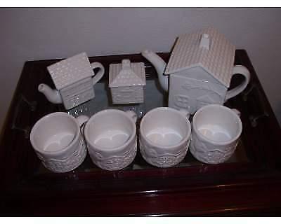 Servizio te' e cestino ceramica Mulino Bianco