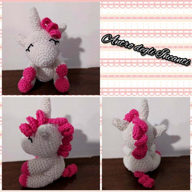 Unicorno bomboniera amigurumi