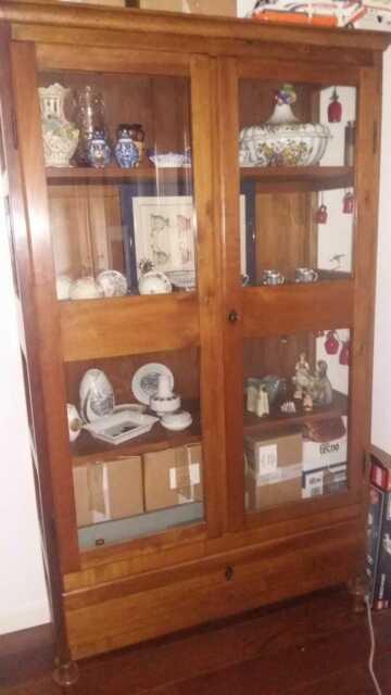 Bellissima vetrinetta antica in legno massello