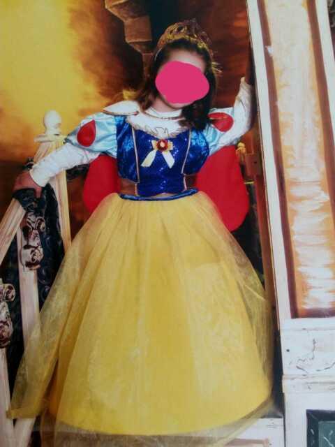 """Vestito carnevale bambina di 3 anni """"Biancaneve"""""""