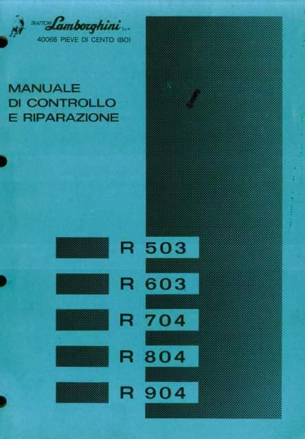 Manuale di officina per trattori Lamborghini